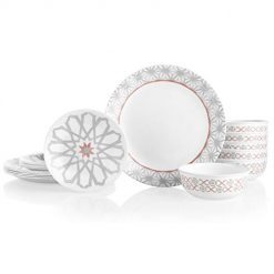 One Sales a Day At Amazon, Corelle 18-Piece Service for 6, Chip Resistant Dinnerware Set, Amalfi Rosa