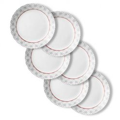 Sale 1 Day At Amazon, Corelle Chip Resistant Dinner Plates, 6-Piece, Amalfi Rosa