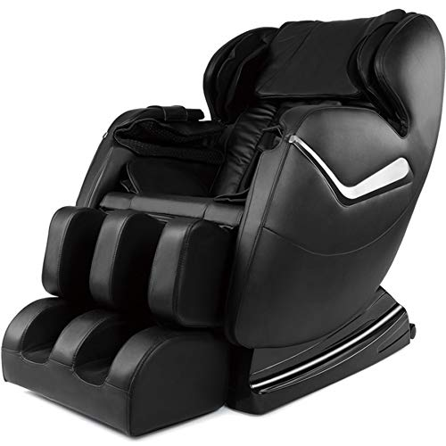 Best Massage Chair At Amazon, Real Relax Massage Chair, Full Body Zero Gravity Shiatsu Recliner with Heat and Foot Rollers, Black