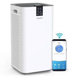 Best Free Fresh Air Machine At Amazon, Inofia Air Purifier with True HEPA Air Filter, Wi-Fi Intelligent Control, Air Cleaner for Large Room, for Spaces Up to 1300 Sq Ft, Perfect for Home/Office with 2 Filters (White.)
