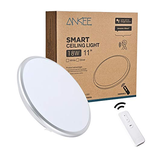 "Best ANKEE Smart LED Ceiling Light At Amazon, 18W - No Hub Required 11"" Ceiling Light 