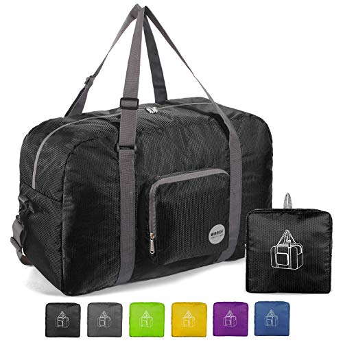 "Best Amazon Deals For Reviews, 22"" Foldable Duffle Bag 50L for Travel Gym Sports Lightweight Luggage Duffel By WANDF"