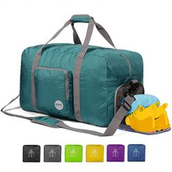 "Save up to 30% on Travel Bags & Accessories At Best Amazon Deals Sites, 24"" Foldable Duffle Bag 60L for Travel Gym Sports Lightweight Luggage Duffel By WANDF (24 inches (60 Liter), Dark Green 24"")"