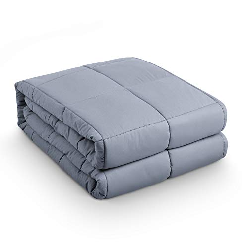 """Amazon Coupon Discount For Best BEASEN Weighted Blanket (12 lbs ,48""""x72"""") For Adult Kids 110-140 lbs Individual,Natural Calm Sleep,Premium Cotton With Hypoallergenic Polyester Padding, Glass Beads,Grey"""