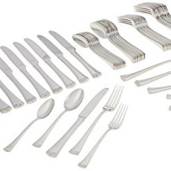A Deal A Day At Amazon, Lenox Portola Stainless Steel 65-piece Flatware Set, Silver - 815486