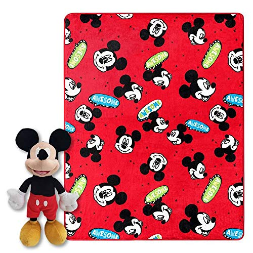 Mickey Mouse Kids Throw Blanket and Pillow Buddy At Amazon.