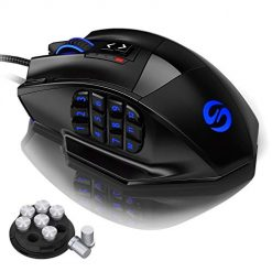 Buttons On The Side Of Mouse, UtechSmart Venus Gaming Mouse RGB Wired, 16400 DPI High Precision Laser Programmable MMO Computer Gaming Mice [IGN's Recommendation]