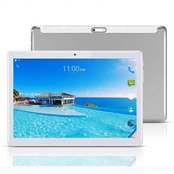 Best Touch Screen For Android Tablet At Amazon, YELLYOUTH Android Tablet 10 inch with Sim Card Slots 2.5D Curved Glass Touch Screen 4GB RAM 64GB ROM Octa Core 3G Unlocked GSM Phone Tablet PC Compatible with WiFi Bluetooth GPS (Silver)