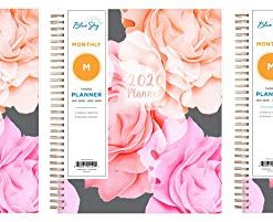 "Blue Sky 2020 Monthly Planner, Flexible Cover, Twin-Wire Binding, 8"" x 10"", Joselyn (Thrее Рack)"