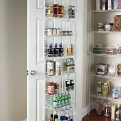 Over-the-Door Spice Rack Wall Mount Pantry Kitchen 8-Tier Cabinet Organizer, 77-Inch Height X 18-Inch Wide""