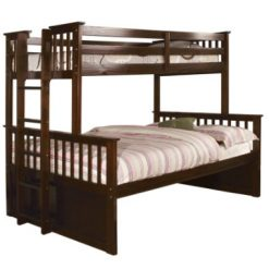 Twin over Queen Bunk Bed, Best Furniture of America Pammy Espresso At Amazon