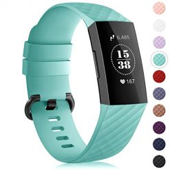 Fitbit Charge 3 Bands. Find-MyWay Replacement Compatible with Fitbit Charge 3 Bands/Charge 3 SE Metal Bands Wristband Accessory Breathable Sport Bracelet Strap Small & Large for Women Men Silver Rose Gold 10 Colors