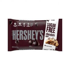 HERSHEY'S Kitchens Baking Chips, Sugar Free Chocolate Chips, 8 Ounce Bag (Pack of 1)