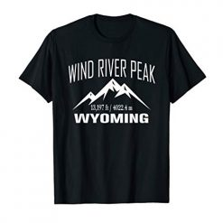 WIND RIVER PEAK WYOMING Climbing Summit Club Outdoor Gift T-Shirt