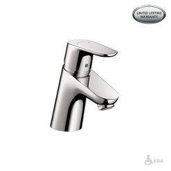 hansgrohe Focus Modern 1-Handle 5-inch Tall Bathroom Sink Faucet in Chrome, 04370000