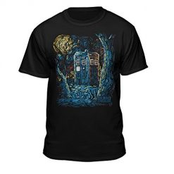 Doctor Who Starry Night Van Gogh Design Official T-Shirt