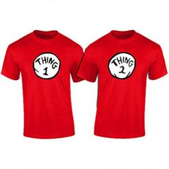Thing 1 and Thing 2, ONE Shirt PER Order - Thing 1 Thing 2 T-Shirts - Adult and Youth 1-10, Send US A Message with The Thing Number