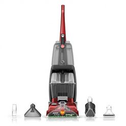 Hoover Power Scrub Deluxe Carpet Washer FH50150, Cleaner Machine, Upright Shampooer, Red