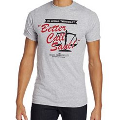 Breaking Bad Men's Better Call Saul T-Shirt, Light Gray, Medium