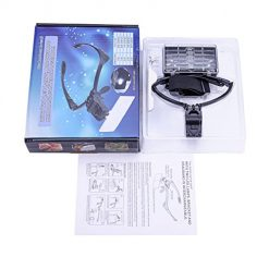 Magnifying Glass with Light, LED Light Weight Magnifier with 5 Lenses 1x, 1.5x, 2x, 2.5x, 3.5x