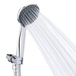 Shower Head With Hose, Handheld Shower Head High Pressure 5 Spray Settings Massage Spa Detachable Hand Held Showerhead Chrome Face with Hose and Adjustable Bracket