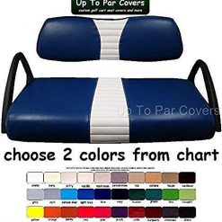 Golf Cart Seat Covers Best Club Car DS 2000+ Custom 1-Stripe Set Made with Marine Grade Vinyl - Staple On - Choose Your Colors From Our Color Chart!
