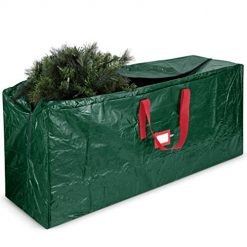 Christmas Tree Storage Box, Large Christmas Tree Storage Bag - Fits Up to 9 ft Tall Holiday Artificial Disassembled Trees with Durable Reinforced Handles & Dual Zipper - Waterproof Material Protects from Dust, Moisture & Insect