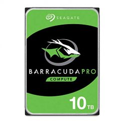 10TB Hard Drive, Seagate BarraCuda Pro 10TB Internal Hard Drive Performance HDD – 3.5 Inch SATA 6 Gb/s 7200 RPM 256MB Cache for Computer Desktop PC, Data Recovery