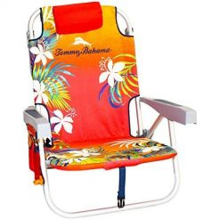 Tommy Bahama Beach Chairs, Backpack Cooler Chair with Storage Pouch and Towel Bar