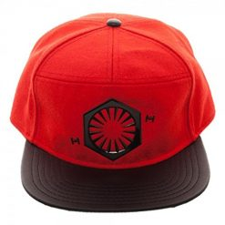 Star Wars: The Last Jedi First Order Logo Snapback Baseball Cap Red, Black