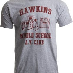 Stranger Things T Shirt. Hawkins Middle School A.V. Club | Vintage Style 80s Costume AV Hawkin T-Shirt