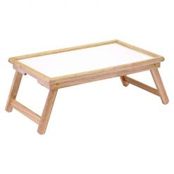 Best Laptop Desk for Bed. Winsome Wood Ventura Bed Tray, Natural/wht