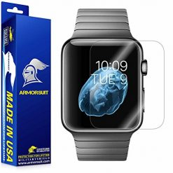 Apple Watch Screen Protector Best ArmorSuit MilitaryShield Max Coverage for 42mm (Series 3 / 2 / 1 Compatible) [2 Pack] - Anti-Bubble HD Clear Film
