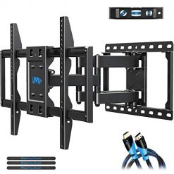 Best Full Motion TV Wall Mount, Mounting Dream TV Mount Bracket for 42-70 Inch Flat Screen TVs, Full Motion TV Wall Mounts with Swivel Articulating Dual Arms , Heavy Duty Design - Max VESA 600x400mm , 100 LBS Loading , MD2296