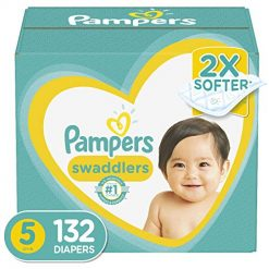 Pampers Swaddlers Size 5, Diapers Size 5, 132 Count - Pampers Swaddlers Disposable Baby Diapers, ONE MONTH SUPPLY
