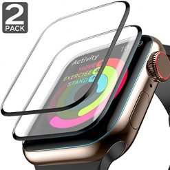 Apple Watch Screen Protector,[2 Pack] Compatible with Series 3/2/1 3D Tempered Glass HD Clear 99% Max Coverage Anti-Bubble Scratch Resistant iWatch Screen Protector 42mm