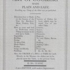 The Art of Cookery Made Plain and Easy by Hannah Glasse (Author)