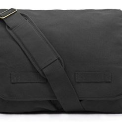 Messenger Bags For Men, Sweetbriar Classic Messenger Bag - Vintage Canvas Shoulder, Black, Size Large