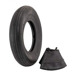 "4.80/4.00 x 8 Tire, Best 4.80/4.00-8"" Replacement Pneumatic Wheel Tire and Tube"