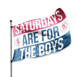 Barstool Sports Saturdays are for The Boys Official Flag, 3x5 Foot, Durable & Fade Resistant, Perfect for Tailgates Dorms College Football Fraternities Parties