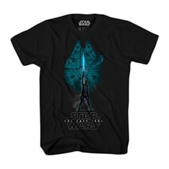 Star Wars Last Jedi Men's T-Shirt, Black, 2XL