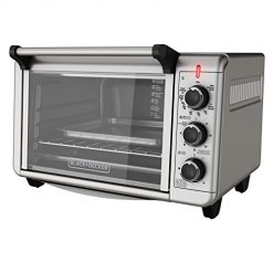Black and Decker Toaster Oven TO3210SSD 6-Slice Convection Countertop , Silver