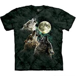 The Mountain T Shirts, Men's Three Wolf Moon Best Short Sleeve Tee, Dark Green, Large