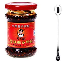 Hot Ones Fiery Chipotle, Lao Gan Ma Spicy Chili Crisp (Chili Oil Sauce) - 7.41 Ounce+ Only one NineChef Spoon