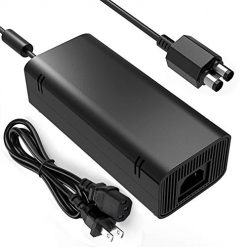 Xbox 360 Slim Power Cord. Slim Power Supply, YCCSKY AC Adapter Power Supply Charger Brick with Cable for for Xbox 360 Slim Feature: The xbox power supply is NON-OEM Replacement for the newest version X-360 SLIM This ac adapter power supply is global adapter - auto voltage INPUT: AC 100-240V ~ 2A 47-63Hz; OUTPUT: DC 135W 12V--10.83A; 5Vsb--1A LED Status showing the working status, Green is power on, orange is stand by Buy with confidence, If you have any question, please have no hesitate to contact with us, We promise that we will do our best to make you 100% satisfied for after-sale service Only for Xbox 360 Slim Console