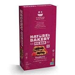 Nature's Bakery Whole Wheat Fig Bars, Raspberry, 1- 12 Count Box of 2 oz Twin Packs (12 Packs), Vegan Snacks, Non-GMO