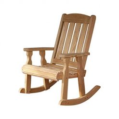 Cracker Barrel Rocking Chairs, Amish Heavy Duty 600 Lb Mission Pressure Treated Rocking Chair (Unfinished)