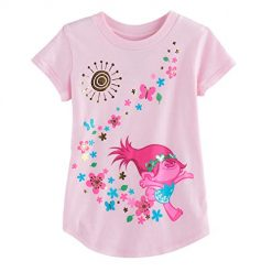 Jumping Beans Toddler Girls 2T-5T DreamWorks Trolls Poppy Graphic Tee 3T Light Pink