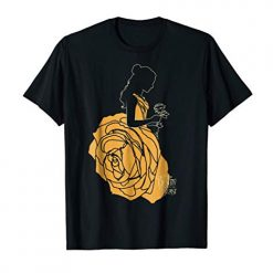 Disney Beauty And The Beast Belle A Rose Dress Graphic T-Shirt