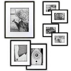 Black and White Pictures At Amazon. Best Gallery Perfect 7 Piece Black Photo Frame Wall Gallery Kit with Decorative Art Prints & Hanging Template